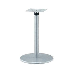 ラチェット昇降式テーブル脚 ラウンドSC7400 ベース400φ パイプ60.5φ 受座240x240 I41紛体塗装 AJ付 高さ670mm~970mm