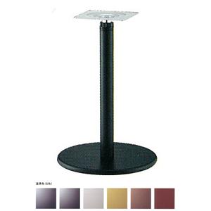 ラチェット昇降式テーブル脚 ラウンドSC7400 ベース400φ パイプ60.5φ 受座240x240 基準色塗装 AJ付 高さ670mm~970mm