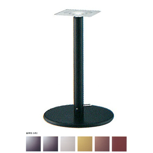 ガス昇降式テーブル脚 ラウンドSG7500 ベース500φ パイプ60.5φ 受座240x240 基準色塗装 AJ付 高さ680mm~930mm