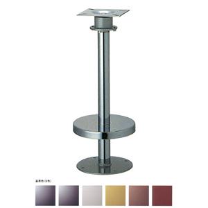 床面固定オートリターン式イス脚 リターン42 カバー220φ パイプ42.7φ 受座155x155(2/3回転式) 基準色塗装 高さ700mmまで