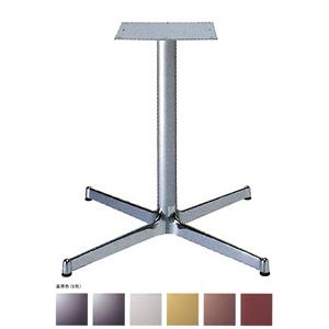 テーブル脚 SBL2900 ベース640x640 パイプ60.5φ 受座300x300 アルミクローム/塗装パイプ AJ付 高さ700mmまで