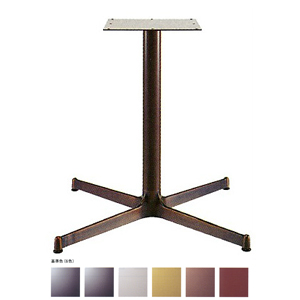 テーブル脚 SBL2900 ベース640x640 パイプ60.5φ 受座300x300 アルミジービー/塗装パイプ AJ付 高さ700mmまで