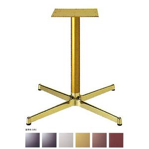 テーブル脚 SBL2900 ベース640x640 パイプ60.5φ 受座300x300 アルミゴールド/塗装パイプ AJ付 高さ700mmまで