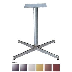 テーブル脚 SBL2800 ベース570x570 パイプ60.5φ 受座300x300 アルミシルバー/塗装パイプ AJ付 高さ700mmまで