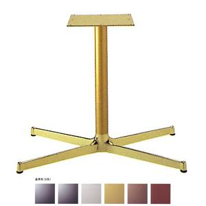 テーブル脚 SBL3850 ベース740x440 パイプ60.5φ 受座300x300 アルミゴールド/塗装パイプ AJ付 高さ700mmまで