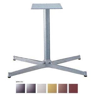 テーブル脚 SBL3950 ベース830x480 パイプ60.5φ 受座300x300 アルミシルバー/塗装パイプ AJ付 高さ700mmまで