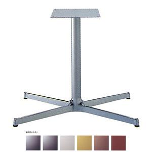 テーブル脚 SBL3950 ベース830x480 パイプ60.5φ 受座300x300 アルミクローム/塗装パイプ AJ付 高さ700mmまで