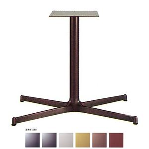 テーブル脚 SBL3850 ベース740x440 パイプ60.5φ 受座300x300 アルミジービー/塗装パイプ AJ付 高さ700mmまで