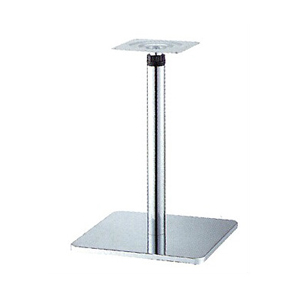 ラチェット昇降式テーブル脚 マストSC7370 ベース370x370 パイプ60.5φ 受座240x240 クロームメッキ AJ付 高さ670mm~970mm
