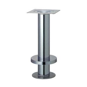 床面固定式テーブル脚 タイト139 カバー220φ パイプ139φ 受座240x240 クロームメッキ 高さ700mmまで