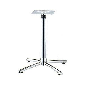 ラチェット昇降式テーブル脚 ウェーブSC2550 ベース400x400 パイプ60.5φ 受座240x240 クロームメッキ AJ付 高さ735mm~1035mm