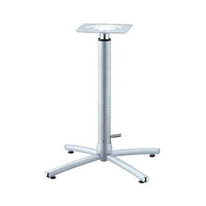 ガス昇降式テーブル脚 ウェーブSG2650 ベース475x475 パイプ60.5φ 受座240x240 I41紛体塗装 AJ付 高さ670mm~920mm