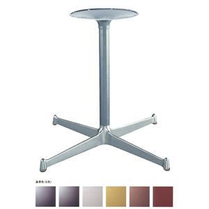 テーブル脚 YB2800 ベース575x575 パイプ42.7φ 受座280φ アルミシルバー/塗装パイプ AJ付 高さ700mmまで