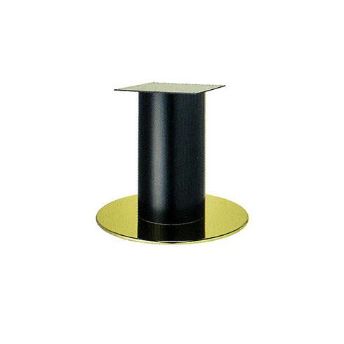テーブル脚 ソフトS7620 ベース620φ パイプ101.6φ 受座240x240 ゴールド/塗装パイプ AJ付 高さ700mmまで