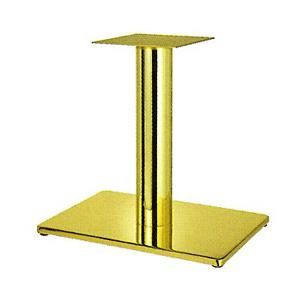 テーブル脚 ボンドS7550 ベース550x370 パイプ101.6φ 受座240x240 ゴールドメッキ AJ付 高さ700mmまで