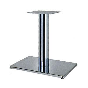 テーブル脚 ボンドS7550 ベース550x370 パイプ101.6φ 受座240x240 クロームメッキ AJ付 高さ700mmまで