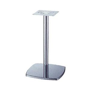 テーブル脚 クリーンS7400 ベース400x400 パイプ60.5φ 受座240x240 クロームメッキ AJ付 高さ700mmまで
