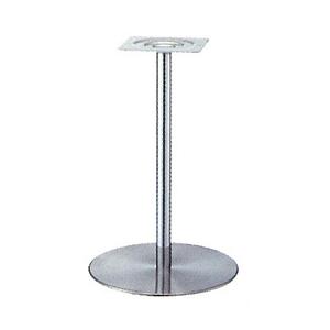 テーブル脚 センターS7440 ベース440φ パイプ42.7φ 受座240x240 ステンレス/クロームパイプ 高さ700mmまで