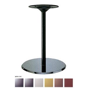 テーブル脚 フラットS7460 ベース460φ パイプ42.7φ 受座280φ クローム/塗装パイプ 高さ700mmまで