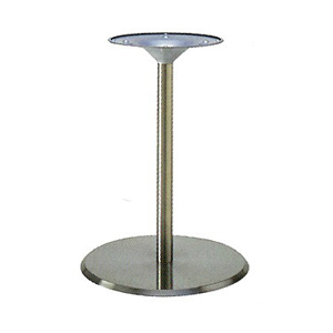 テーブル脚 フラットS7460 ベース460φ パイプ42.7φ 受座280φ ステンレスヘア 高さ700mmまで