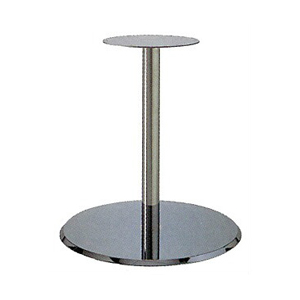 テーブル脚 フラットS7520 ベース520φ パイプ60.5φ 受座280φ クロームメッキ 高さ700mmまで