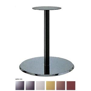 テーブル脚 フラットS7460 ベース460φ パイプ50.8φ 受座280φ クローム/塗装パイプ 高さ700mmまで