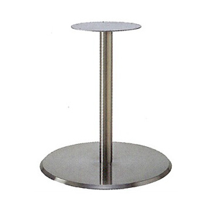 テーブル脚 フラットS7410 ベース410φ パイプ50.8φ 受座280φ ステンレスヘア 高さ700mmまで