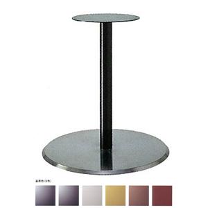 テーブル脚 フラットS7410 ベース410φ パイプ50.8φ 受座280φ ステンレスヘア/塗装パイプ 高さ700mmまで