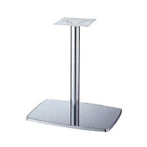 テーブル脚 イオンS7600 ベース600x420 パイプ101.6φ 受座240x240 クロームメッキ AJ付 高さ700mmまで