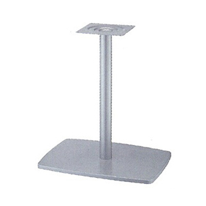 テーブル脚 イオンS7600 ベース600x420 パイプ101.6φ 受座240x240 I41紛体塗装 AJ付 高さ700mmまで