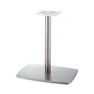 テーブル脚 イオンS7600 ベース600x420 パイプ60.5φ 受座240x240 ニッケルサテン AJ付 高さ700mmまで