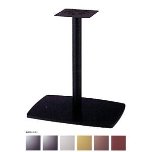 テーブル脚 イオンS7600 ベース600x420 パイプ101.6φ 受座240x240 基準色塗装 AJ付 高さ700mmまで
