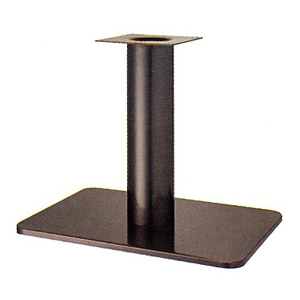 テーブル脚 マリオS7680 ベース680x455 パイプ139φ 受座240x240 シービーメッキ AJ付 高さ700mmまで