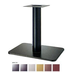 テーブル脚 マリオS7680 ベース680x455 パイプ139φ 受座240x240 基準色塗装 AJ付 高さ700mmまで