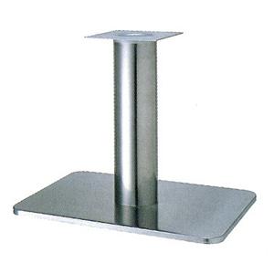テーブル脚 マリオS7680 ベース680x455 パイプ76.3φ 受座240x240 ステンレス AJ付 高さ700mmまで
