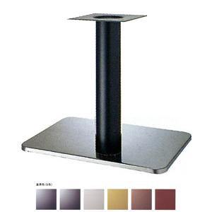 テーブル脚 マリオS7680 ベース680x455 パイプ76.3φ 受座240x240 ステンレス/塗装パイプ AJ付 高さ700mmまで