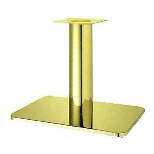 テーブル脚 マリオS7680 ベース680x455 パイプ76.3φ 受座240x240 ゴールドメッキ AJ付 高さ700mmまで