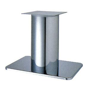 テーブル脚 マリオS7680 ベース680x455 パイプ280φ 受座350x350 クロームメッキ AJ付 高さ700mmまで