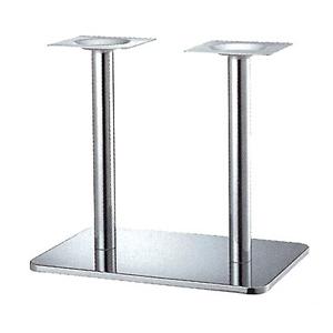 テーブル脚 マリオSM7680 ベース680x455 パイプ60.5φx2 受座240x240 クロームメッキ AJ付 高さ700mmまで