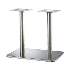 テーブル脚 マリオSM7680 ベース680x455 パイプ60.5φx2 受座240x240 ステンレス AJ付 高さ700mmまで