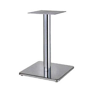 テーブル脚 マストS7370 ベース370x370 パイプ76.3φ 受座240x240 クロームメッキ AJ付 高さ700mmまで