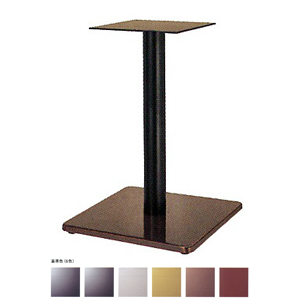 テーブル脚 マストS7370 ベース370x370 パイプ76.3φ 受座240x240 ジービー/塗装パイプ AJ付 高さ700mmまで