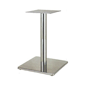 テーブル脚 マストS7370 ベース370x370 パイプ60.5φ 受座240x240 ステンレス AJ付 高さ700mmまで