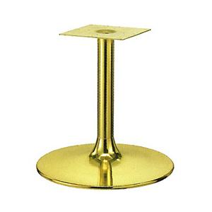 テーブル脚 MW7500 ベース500φ パイプ60.5φ 受座240x240 ゴールドメッキ 高さ700mmまで