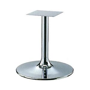 テーブル脚 MW7500 ベース500φ パイプ60.5φ 受座240x240 クロームメッキ 高さ700mmまで