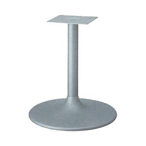 テーブル脚 MW7600 ベース600φ パイプ60.5φ 受座240x240 F30紛体塗装 高さ700mmまで