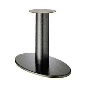 テーブル脚 オーバルS7700 ベース700x420 パイプ139φ 受座280φ Aシルバー紛体塗装 AJ付 高さ700mmまで