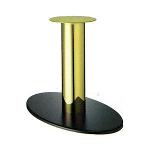 テーブル脚 オーバルS7700 ベース700x420 パイプ210φ 受座340φ 黒紛体/ゴールドパイプ AJ付 高さ700mmまで