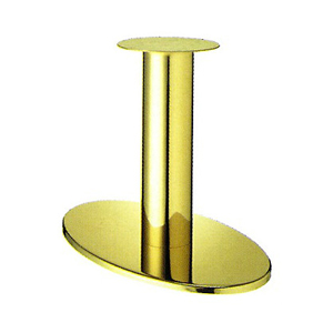 テーブル脚 オーバルS7700 ベース700x420 パイプ139φ 受座280φ ゴールドメッキ AJ付 高さ700mmまで