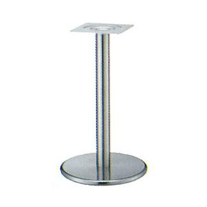 テーブル脚 ラウンドS7400 ベース400φ パイプ76.3φ 受座240x240 ステンレス AJ付 高さ700mmまで